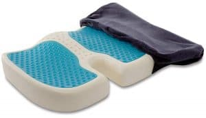 TravelMate Gel Enhanced Memory Foam Seat Cushion 300x172 - Tailbone Pain Relief Cushions to Help you Relieve Back Pain